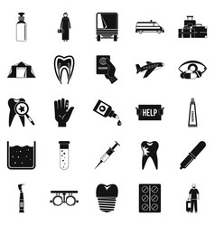 doctor icons set simple style vector image vector image