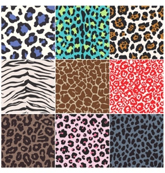 seamless animal skin fabric pattern vector image vector image