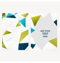 Abstract template geometric flyer vector image