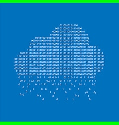 binary cloud concept vector image