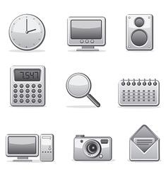 computer applications icon set vector image vector image