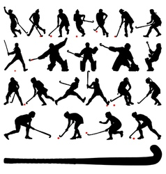 Field hocky players vector image