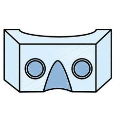 reality virtual mask technology vector image