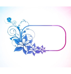 abstract colorful floral frame vector image