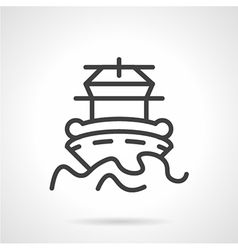 Abstract simple line icon for ship vector image vector image