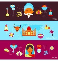 India banner set vector