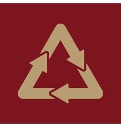 The waste processing icon bio symbol flat vector