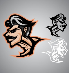 warrior thai logo emblem vector image vector image