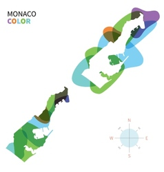 Abstract color map of monaco vector