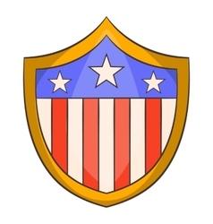 American shield icon cartoon style vector