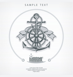 anchor symbol badge round vector image
