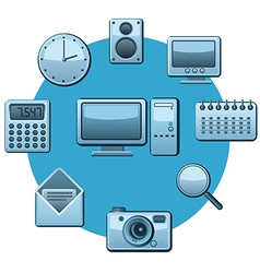 applications icons vector image