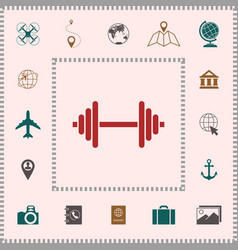 barbell symbol icon elements for your design vector image