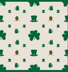 Bishop mitre with shamrock seamless backdrop vector