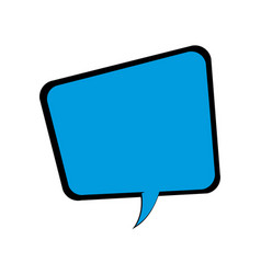 blue speech bubble talking comic vector image