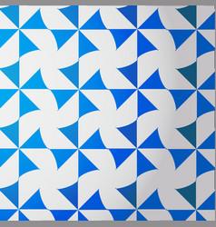 Blue-white turbine pattern vector