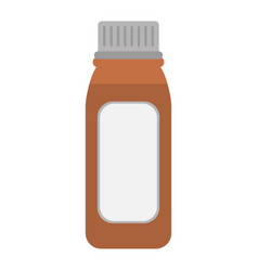 Bottle medicine healhy care icon vector