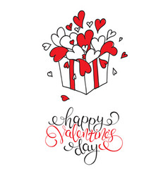 box with hearts happy valentines day vector image
