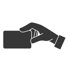 card hand side icon graphic vector image