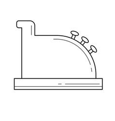 Cashier equipment line icon vector