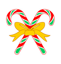 Christmas candy cane cross gift vector