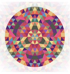 Circular abstract geometric triangle kaleidoscope vector