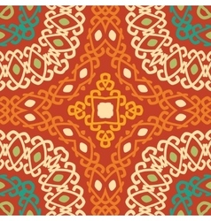 Colorful tribal ethnic seamless pattern vector