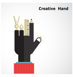 Creative hand logo design templates vector image