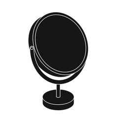 Desk mirrorbarbershop single icon in black style vector