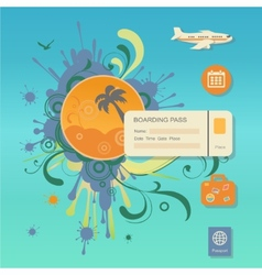 flat design style modern concept of planning vector image