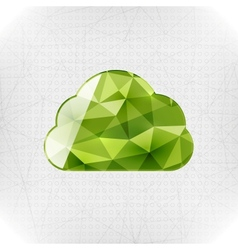 Geometric cloud paper concept vector image