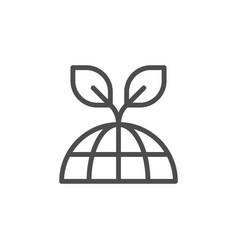 global ecology line icon vector image