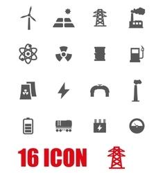 grey energetics icon set vector image