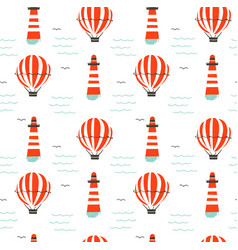 hand drawn cartoon seamless pattern with vector image