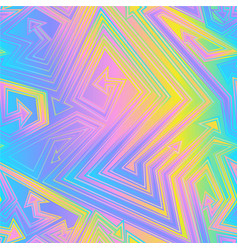 Holographic effect arrow seamless texture vector