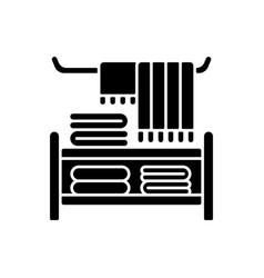 Home textile black glyph icon vector