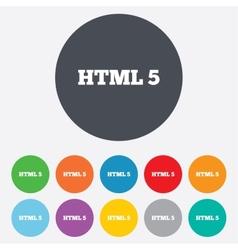 HTML5 sign icon New Markup language symbol vector image