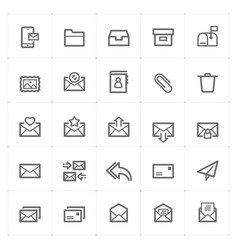 icon set - email and letter vector image