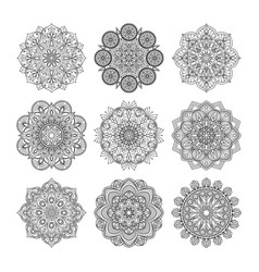 Indian mandalas old asian vector