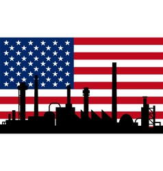 Industry and flag of USA vector image