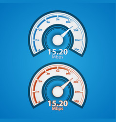 Internet speed indicator vector