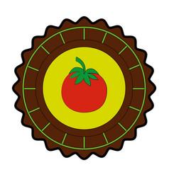 isolated round icon tomato vector image