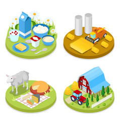 Isometric ecology concept agriculture industry vector