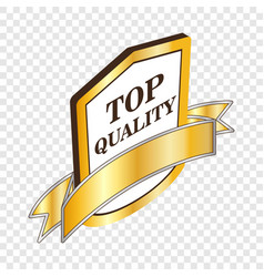 Label top quality isometric icon vector