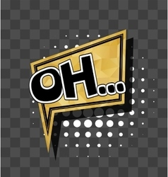 Lettering Oh Gold sparkle comic text vector