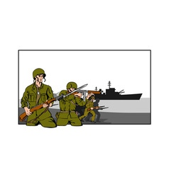 Marines attacking vector