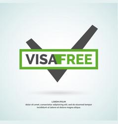 Modern poster free visa vector