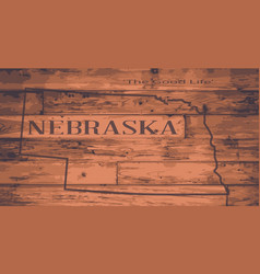 Nebraska map brand vector