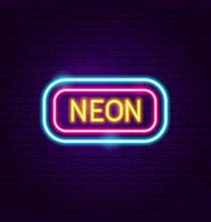 neon signboard label vector image