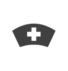 nurse hat related icon vector image